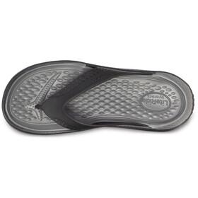 Crocs LiteRide Sandalen, black/slate grey